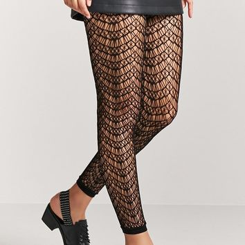 Footless Geo-Cutout Tights