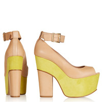 SONANCE Peep Toe Platforms - View All - Shoes - Topshop USA
