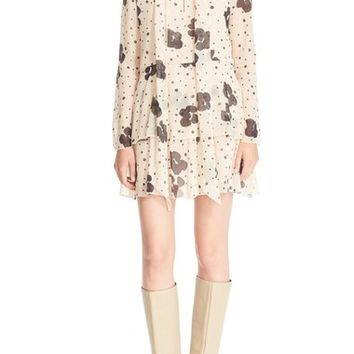 See by Chloé Leopard Print Silk Georgette Dress | Nordstrom