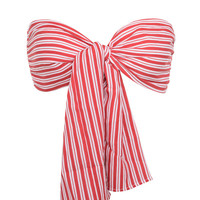 'Love Shack' Red + White Striped Bandeau Top - Mistress Rocks
