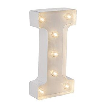 Darice Metal Letter I Marquee Light Up, White