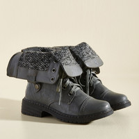 Insider Info Boot in Graphite | Mod Retro Vintage Boots | ModCloth.com