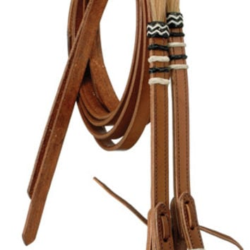 Saddles Tack Horse Supplies - ChickSaddlery.com Reins with Rawhide Braid and Horse Hair