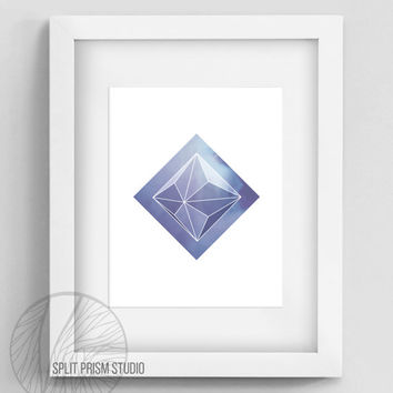 Purple Prism Instant Download, Geometric Wall Art, Geometric Home Decor, Purple, Prism, Sky, Modern Home Decor, Minimal Home Decor, Digital