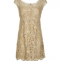 Dolce & Gabbana Beige Lace Dress