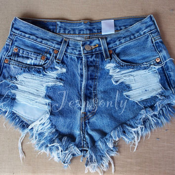 Levis high waisted denim shorts