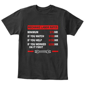 Funny Mechanic Labor Rate Shirt  Un