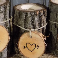 Personalized Candle Holder - Candle Holder - Rustic Decor