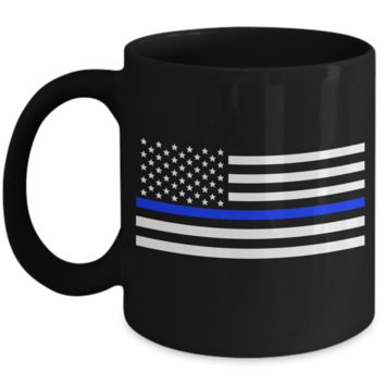 Law Enforcement - Thin Blue Line Flag - Mug