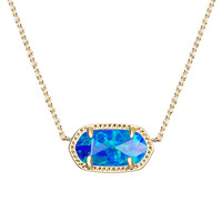 Kendra Scott: Elisa Pendant Necklace In Royal Blue Kyocera Opal