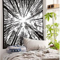 Tree of Life Tapestry Indian Wall Hanging Hippie Tapestries Twin Bedspread
