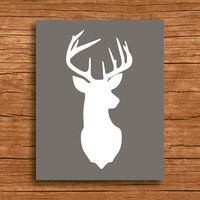 Deer Prints, Deer Wall Art, Deer Poster, Deer Decor, Modern Deer Decor, Deer Wall Prints, Deer Home Decor, Deer Gift, Large Wall Art, Deer