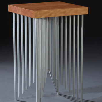 Pyramid Side Table by Carol Jackson (Wood & Metal Side Table) | Artful Home