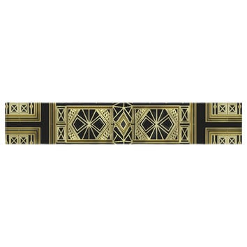 "Nika Martinez ""Golden Art Deco"" Table Runner"