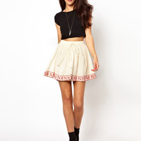 River Island Embroidered Hem Skirt