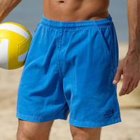 Mens Drawstring Twill Shorts - Blue Hawaii Dyed                       - Crazy Shirts Official Site