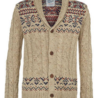 Oatmeal Shawl Collar Cardigan - Men's Cardigans & Sweaters - Clothing