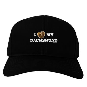 I Heart My Dachshund Adult Dark Baseball Cap Hat by TooLoud