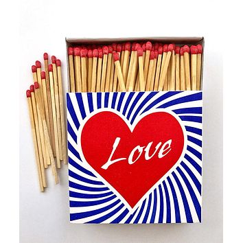 Love Heart Square Matchbox