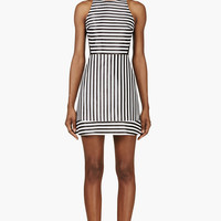 Richard Nicoll Black Lurex Stripe Mini Dress