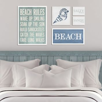 Stratton Home Decor Beach Wall Art 5-piece Set