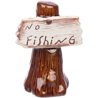 Petco No Fishing Sign Aquarium Ornament