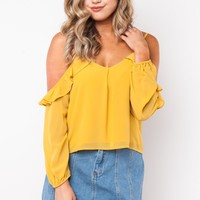 Stone Cold Top in Mustard