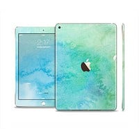 The Subtle Green & Blue Watercolor Skin Set for the Apple iPad Air 2