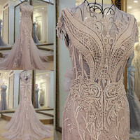 2016 Winter Korean Sliver Grey African Mermaids Dress for Wedding Party Host Vestidos Noche Fiesta 2016 Long Tulle Prom Dresses