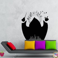 Wall Stickers Vinyl Decal Maestro Music Notes Decor For Living Room (z2059)