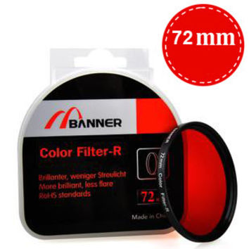 72mm Full Color Lens Filter Various Colors for B&W Photography SLR Cameras-Color Blue
