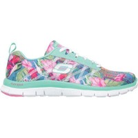 Women's Skechers Flex Appeal Floral Bloom Aqua/Multi | Overstock.com Shopping - The Best Deals on Athletic