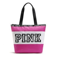 2017 Pink Letter Handbags Women VS Shoulder Bags Pink Purse Totes Travel Duffle Beach Shoulder Bag Waterproof Shopping Bags