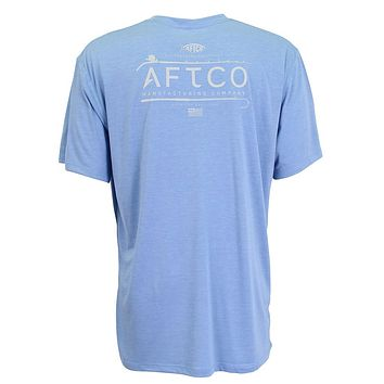 Fishtale Performance Tee Shirt in Magnum Blue by AFTCO