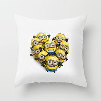Minion Crowd Throw Pillow by Harry Martin