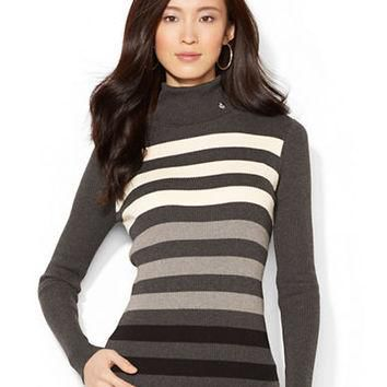 Lauren Ralph Lauren Ombre Striped Turtleneck Sweater