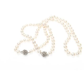 Blush Spark Pearl Necklace