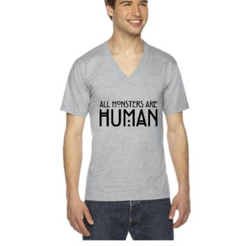 All monsters are human - V-Neck T-shirt