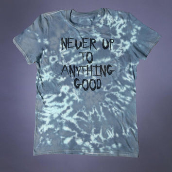 Punk Shirt Never Up To Anything Good Slogan Tee Evil Grunge Alternative Clothing Emo Goth Tumblr T-shirt