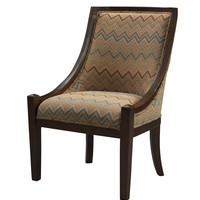 Brown Chevron Carnegie Chair