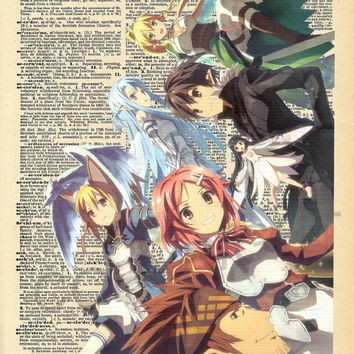 Sword Art Online Dictionary Art Print