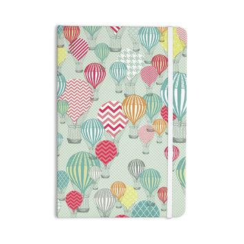 "Heidi Jennings ""Hot Air Baloons"" Teal Multicolor Everything Notebook"