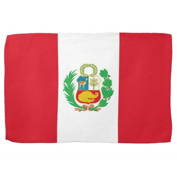 Kitchen towel with Flag of Peru
