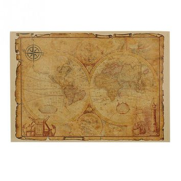 Hot 1pcs Large Vintage Style Retro Paper Poster Gifts 32 x 46 cm Globe Old World Map