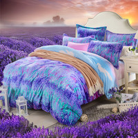 Comforter Bedding Sets Bedding Set French Levin Velvet Thick Warm Sheets, Lavender Duvet Covers, Christmas Duvet Sets