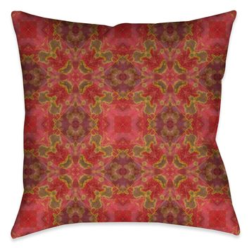 Warm Crepe Myrtle Indoor Decorative Pillow
