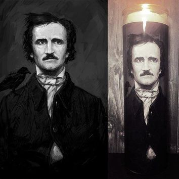 Edgar Allan Poe, Dark Occult, The Raven, Nevermore, Prayer Candle, Candle, Gifts for Her, Best Scented Candles, Soy Candle, Scented Candle