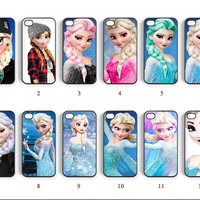 Phone cases, iPhone 5 case, Disney Frozen, iPhone 4 case, iPhone 5C case, Note 3 case, Elsa, Note 2 case, Galaxy S4 case--N0112