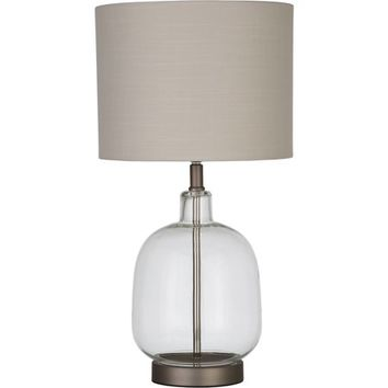 "Better Homes and Gardens Clear Glass Lamp Artisan Glass Table Lamp, Easy On/Off Switch, 22"" Height (55.9cm) Clear Glass Finish - Walmart.com"