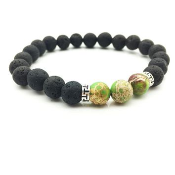Reiki healing New Products Wholesale Lava Stone Beads Natural Stone Bracelet, Men Jewelry, Stretch Yoga Bracelet Christmas gift